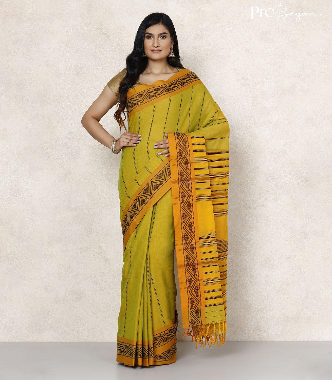 Begampuri Howrah Bridge Embroidered Bengal Cotton New Green Handwoven Saree